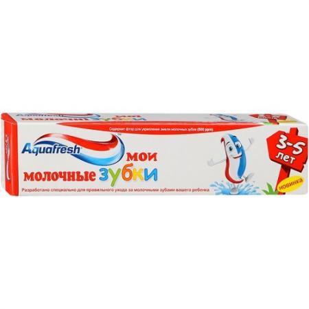 AQUAFRESH Зубная паста детская Мои молочные зубки 3-5лет 50мл гигиена полости рта aquafresh зубная паста мои большие зубки 50 мл