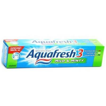 AQUAFRESH зубная паста 3 Мягко-Мятная 125 мл gm1117 33 1117 3 3 sot 223