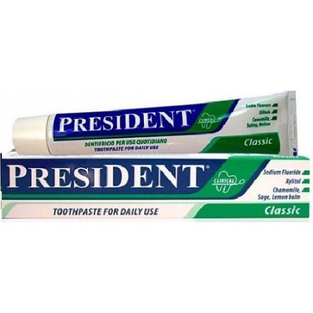 ПРЕЗИДЕНТ Зубная паста ежедневная Классика 75мл цена