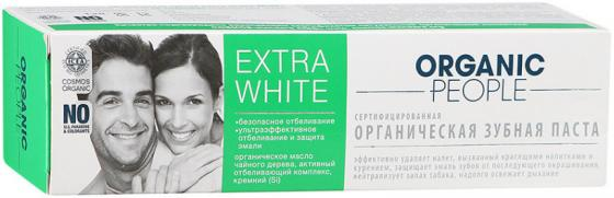 ORGANIC PEOPLE Зубная паста Extra White 100мл зубная паста zoom white organic people 100 г
