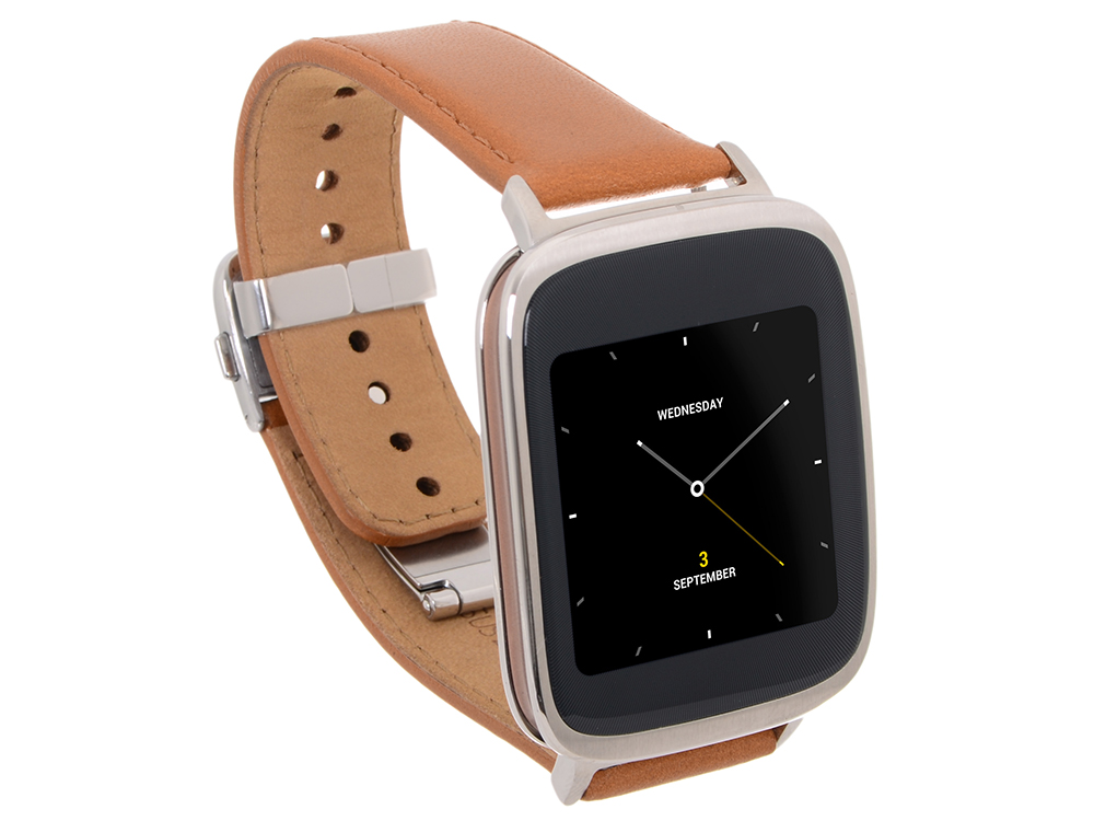 """Смарт-часы Asus ZenWatch Qualcomm Snapragon 400 APQ8026 (1.2)/512M/4G/1.63"""" (320x320) Touch/BT/1.4Wh/Android Wear"""