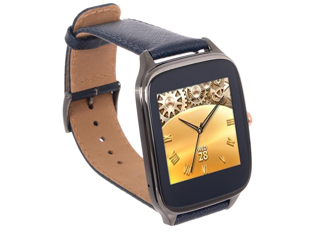 "Смарт-часы Asus ZenWatch 2 (WI501Q(BQC)) Qualcomm APQ8026 (1.2)/512M/4G/1.63"" (320x320) Touch/BT4.1/WiFi/1.4Wh/IP67/Android Wear (Gunmetal,"