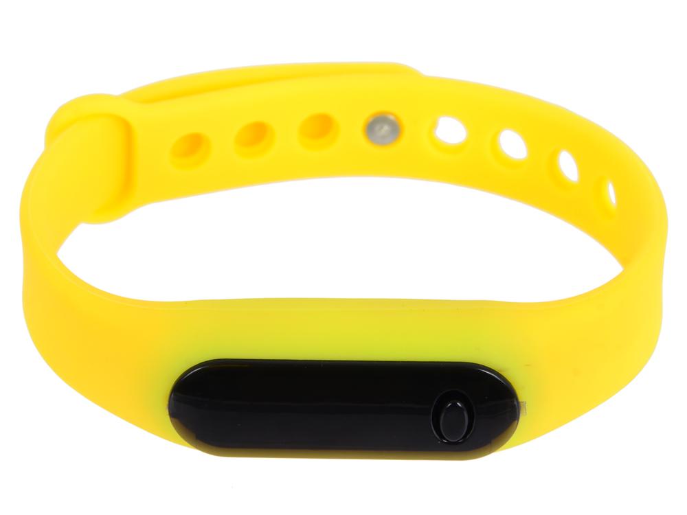 Часы наручные цифровые, время/дата, резиновый браслет 220x10 мм. (желтые) 0L-00028230