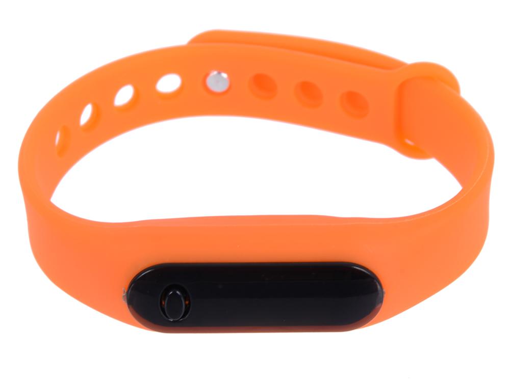 Часы наручные цифровые, время/дата, резиновый браслет 220x10 мм. (оранжевые) 0L-00028233