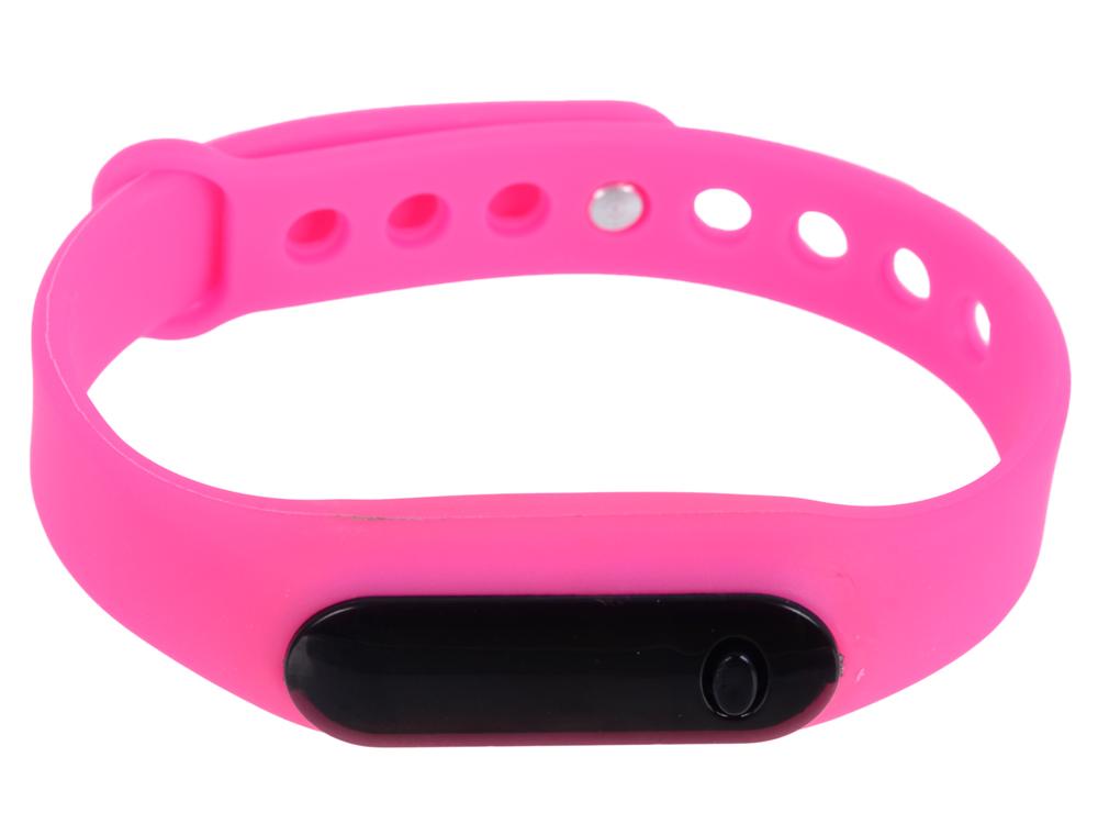 Часы наручные цифровые, время/дата, резиновый браслет 220x10 мм. (розовые) 0L-00028228