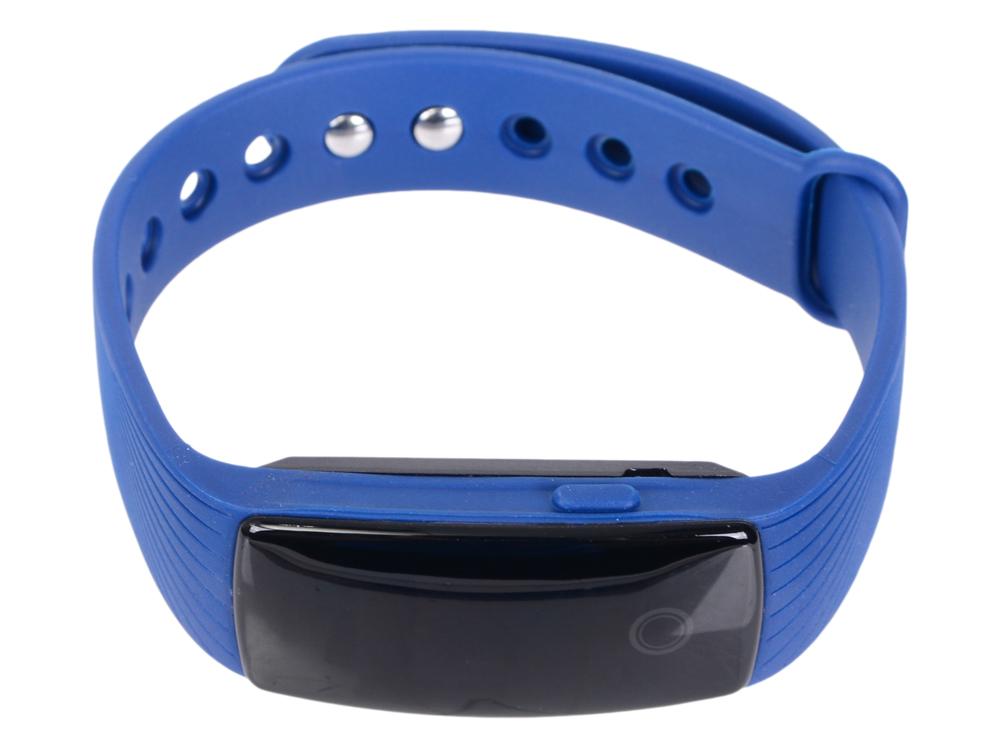 Фитнес-браслет Lime 107HR blue пульсомер/шагомер/подсчет калорий/часы/будильник/синий ремешок
