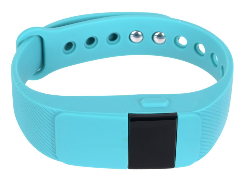 Фитнес-браслет Lime 111HR cyan пульсомер/шагомер/подсчет калорий/часы/будильник/голубой ремешок