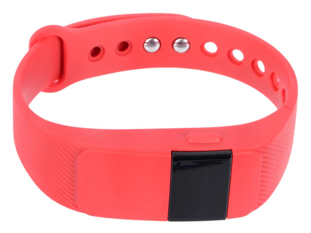 Фитнес-браслет Lime 111HR red пульсомер/шагомер/подсчет калорий/часы/будильник/красный ремешок