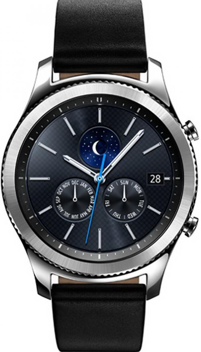 Смарт-часы Samsung Galaxy Gear S3 classic SM-R770 1.3 Super AMOLED серебристый SM-R770NZSASER смарт часы samsung gear s3 classic хромированная сталь