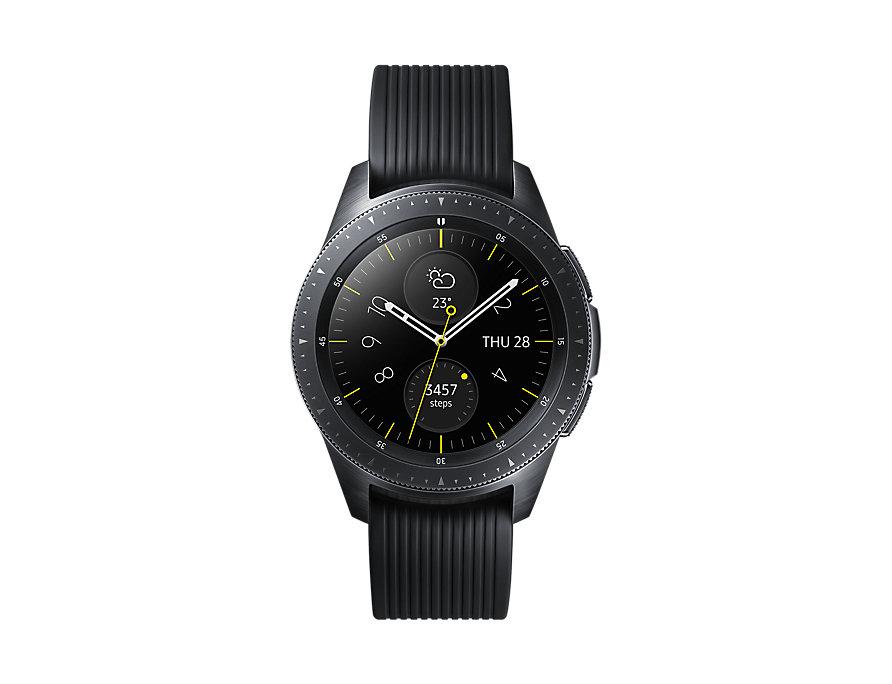Смарт-часы Samsung Galaxy Watch SM-R810, Глубокий черный (SM-R810NZKASER) умные часы samsung galaxy watch 46 mm silver sm r800n