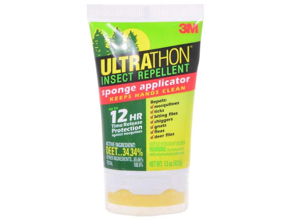 Лосьон для защиты от клещей, мошки и комаров с поролоновым аппликатором UltraThon SRL-12HF