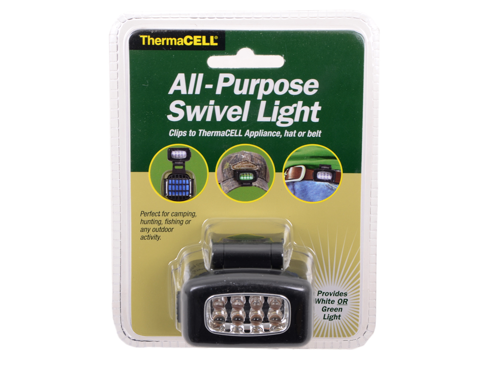 Фонарь универсальный ThermaCELL Swivel Light с поворотным механизмом, на клипсе