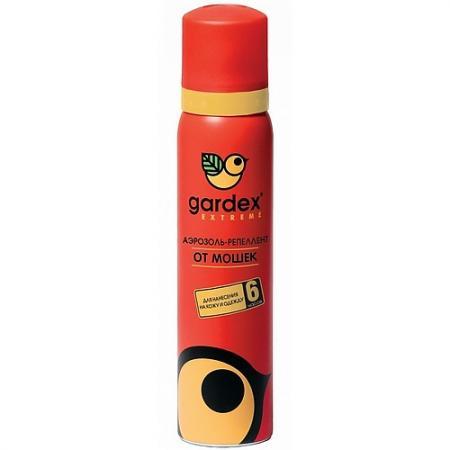GARDEX Extreme Аэрозоль-репеллент от мошки и комаров 100 мл аэрозоль рефтамид максимум от комаров клещей мошки 100мл