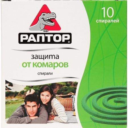 РАПТОР Спираль от комаров без запаха 10шт