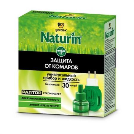 Naturin Комплект прибор универсальный жидкость от комаров без запаха 30 ночей
