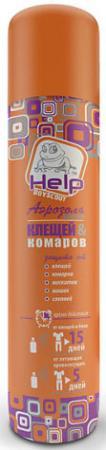 HELP Аэрозоль от клещей и комаров репеллентный 75 мл. /24 концентрат от клещей help для защиты дачного участка 100 мл