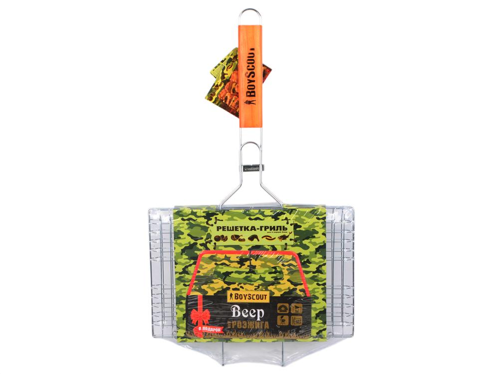 Решетка-гриль Boyscout 61313 33x21см решетка для гамбургеров boyscout 61346
