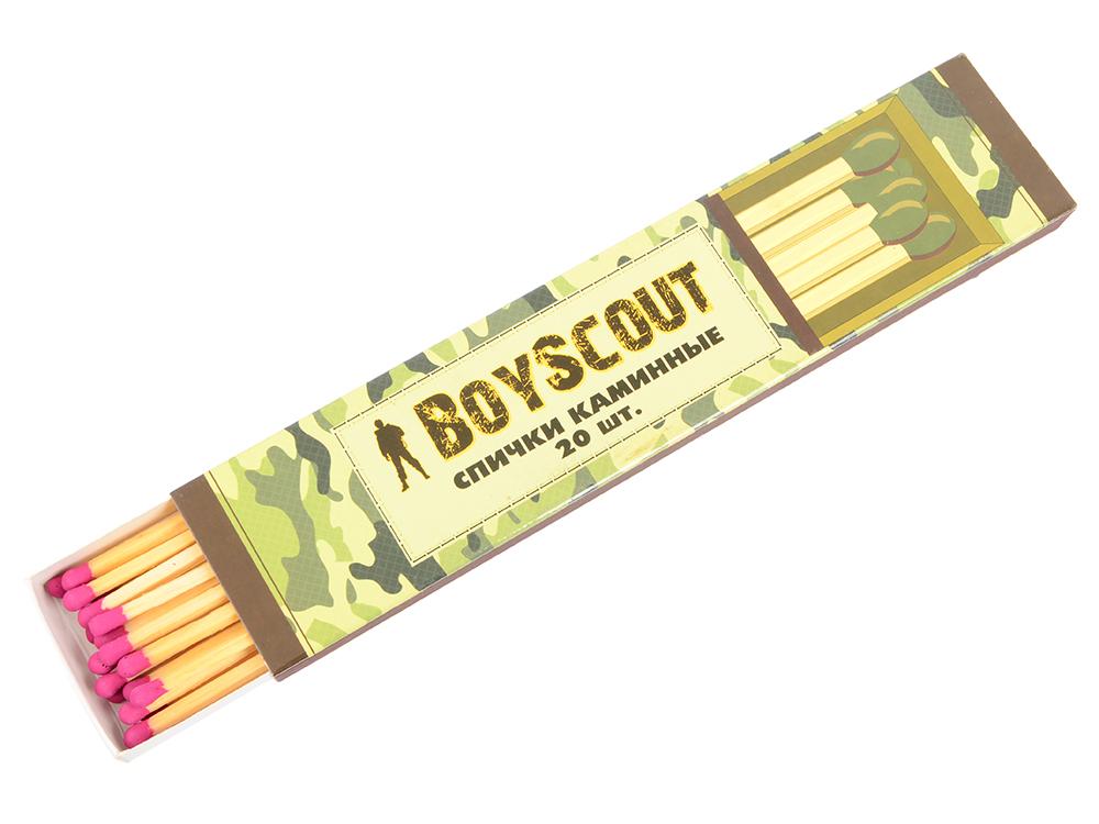 все цены на Спички Boyscout 61030 каминные 205мм 20шт