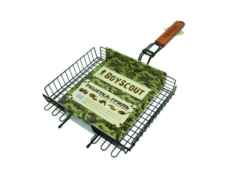 Решетка-гриль Boyscout 61303 универсальная с антипригарный покрытием 62+5x30x25x5.5cм решетка для гамбургеров boyscout 61346