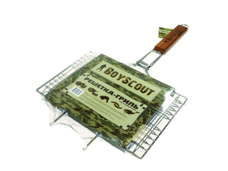 Решетка-гриль Boyscout 61312 для 6 порций блюд большая с антипригарный покрытием 62+5x40x30x2.5cм