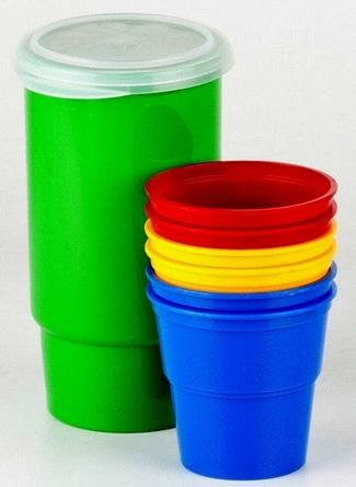 SOLARIS набор посуды: 6 стаканов 0,1л в контейнере