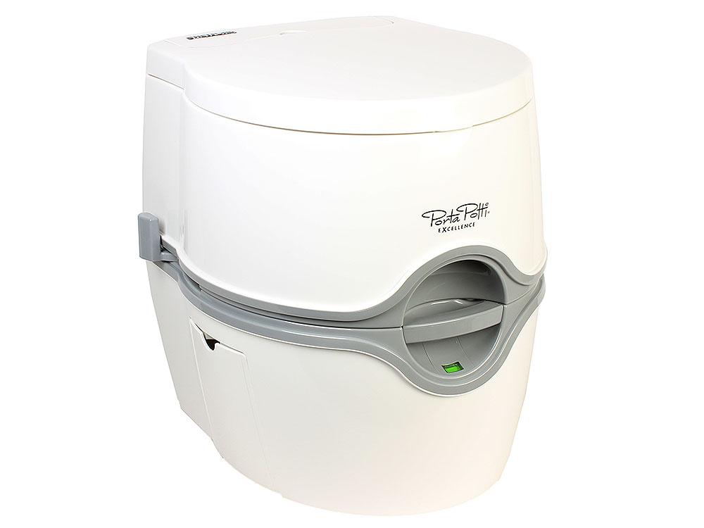 Биотуалет Thetford Porta Potti Excellence Electric White (Нижний бак 21л, верхний бак 15л, электрический насос, индикатор заполнения) от OLDI