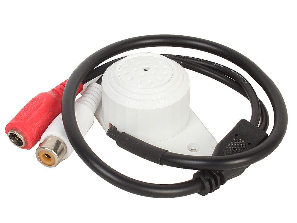 Высокочувствительный микрофон для видеосистем ORIENT VMC-15 активный с АРУ, акустическая площадь до 80 м2, 100-5500 Гц, питание 6-12В, разъемы: RCA+пи