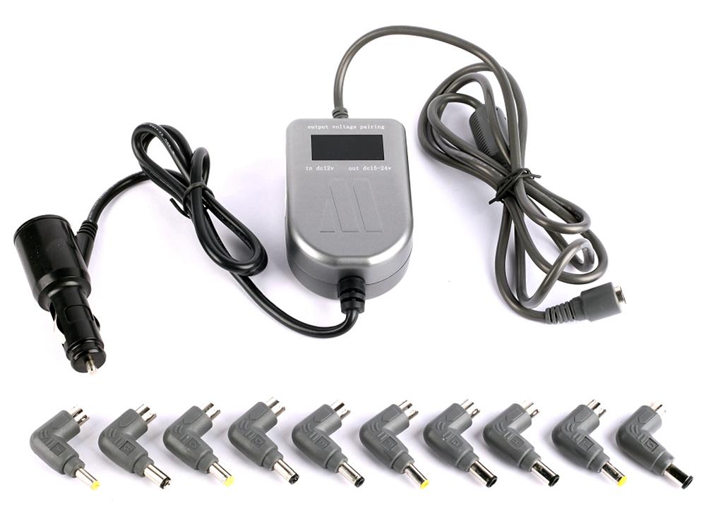Универсальный блок питания для ноутбуков 90Вт Jet.A JA-PA6 Dynamer с автоматическим переключением напряжения (от прикуривателя авто) 10 коннекторов
