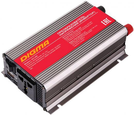 Автомобильный инвертор напряжения Digma DCI-400 400Вт телевизор digma dm led32r201bt2