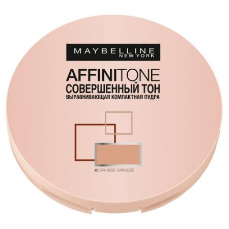 MAYBELLINE Компактная пудра выравнивающая Affinitone 42 темно-бежевый maybelline консилер для лица affinitone 2 3 г 4 оттенка консилер для лица affinitone 01 2 3 г 03 бежевый