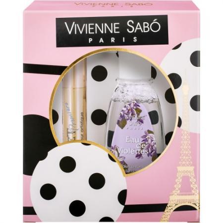 VS Подарочный набор Тушь Cabaret premiere» т. 01 Жидкость для снятия макияжа 2016 vivienne sabo набор велюровых спонжей для макияжа 2 шт