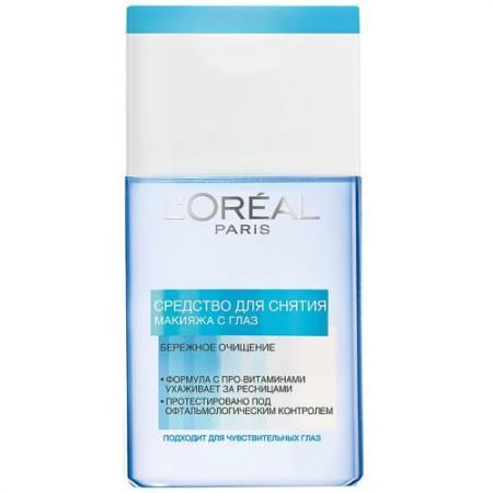 LOREAL Dermo-expertise Средство для снятия макияжа с глаз 125 мл средство акарицидное защита от клещей super picnic 125 мл