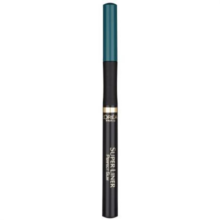 LOREAL SUPER LINER Подводка для глаз Перфект слим тон зелёный seventeen high precision liner waterproof подводка для глаз водостойкая тон 09 ярко голубой 1 8 мл