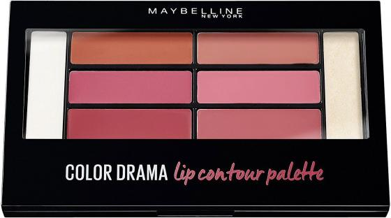 MAYBELLINE Палетка для губ Color Contour Blushed для губ maybelline new york color drama lip contour palette 02 цвет 02 blushed bombshell variant hex name ca596e