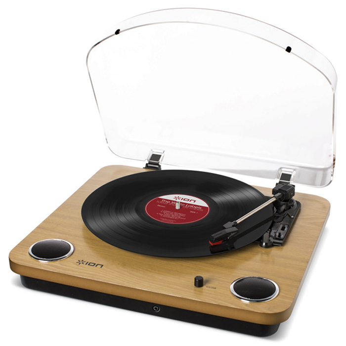 Виниловый проигрыватель ION Max LP С функцией конвертации в MP3 и встроенными колонками виниловый проигрыватель ion max lp черный