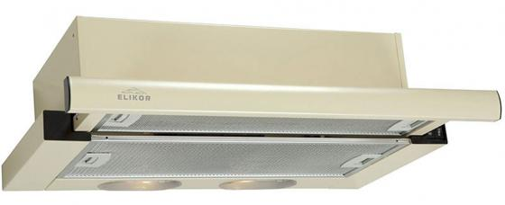 Вытяжка встраиваемая Elikor Интегра 60П-400-В2Л кремовый встраиваемая вытяжка elikor интегра s2 60п 700 в2г белый белый