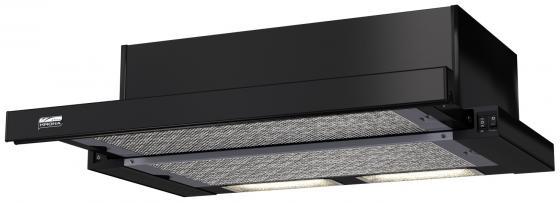 Вытяжка встраиваемая KRONA KAMILLA 600 black (1 мотор) влагостойкая встраиваемая акустика visaton fr 13 wp 4 black 1 шт