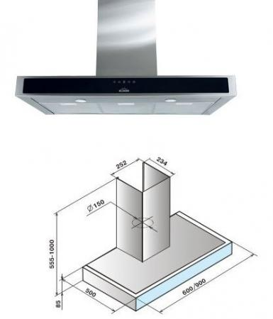 Вытяжка каминная Elikor Агат 90Н-1000-Е4Д нержавеющая сталь вытяжка kronasteel karol 1000 5р нержавеющая сталь