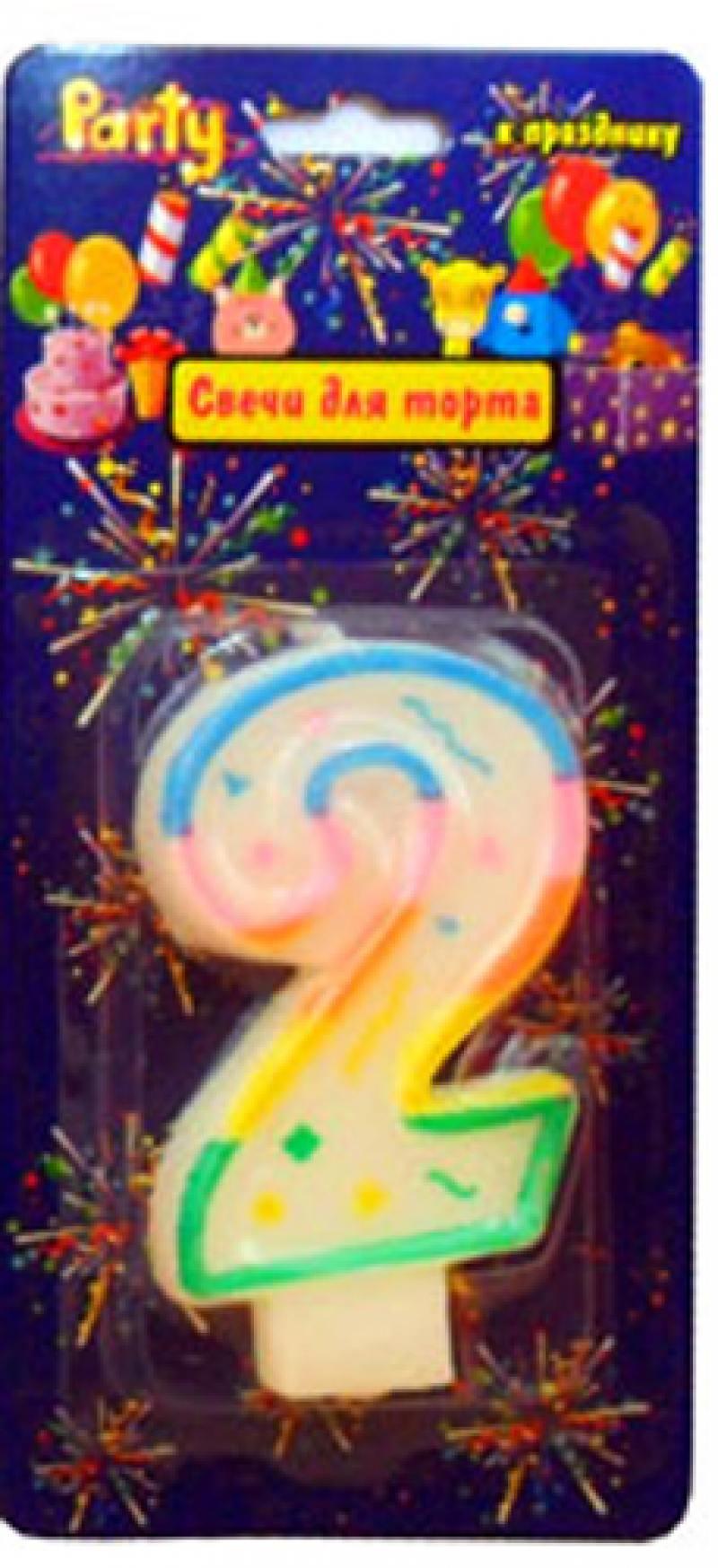 Свеча Action! нумерологическая 2 1 шт 7 см API0316-2 mezco hellboy 2 styles pvc action figure collectible model toy 7 18cm kt3641