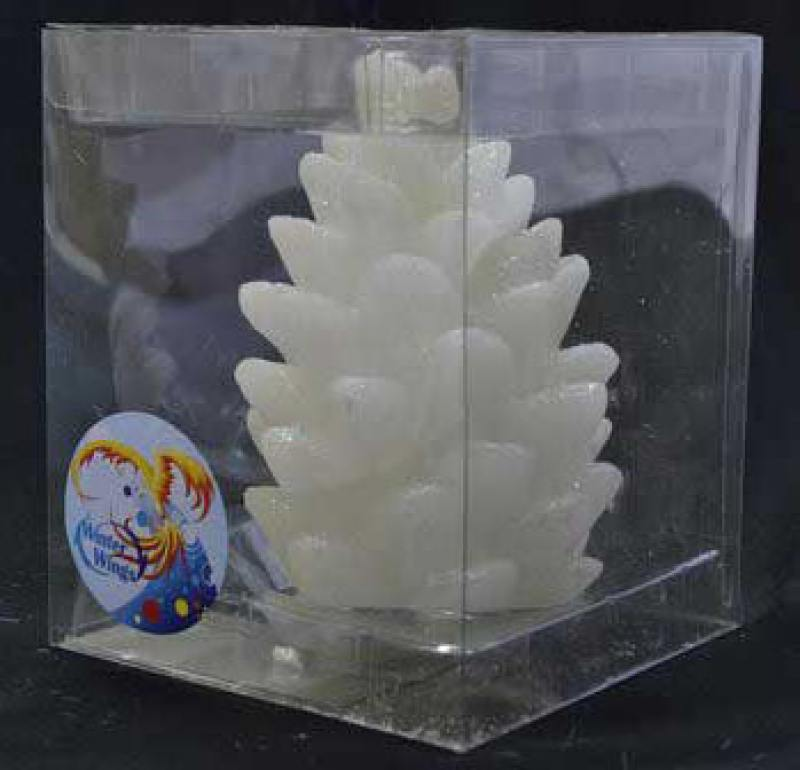 Свеча ШИШКА, светящаяся, 10 см свеча winter wings снеговик светящаяся внутри 70х120 мм n161412 в ассортименте