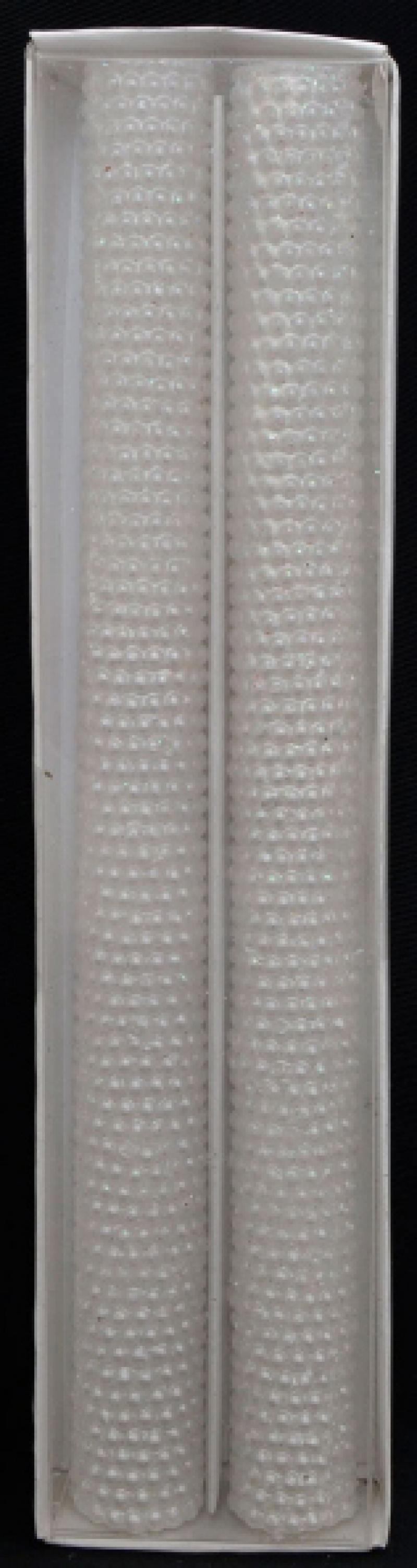 Набор свечей ЖЕМЧУГ, 2 шт, 2*24,5 см, в прозр кор, белый набор свечей win max жемчуг 32 х 2 см 2 шт 94710