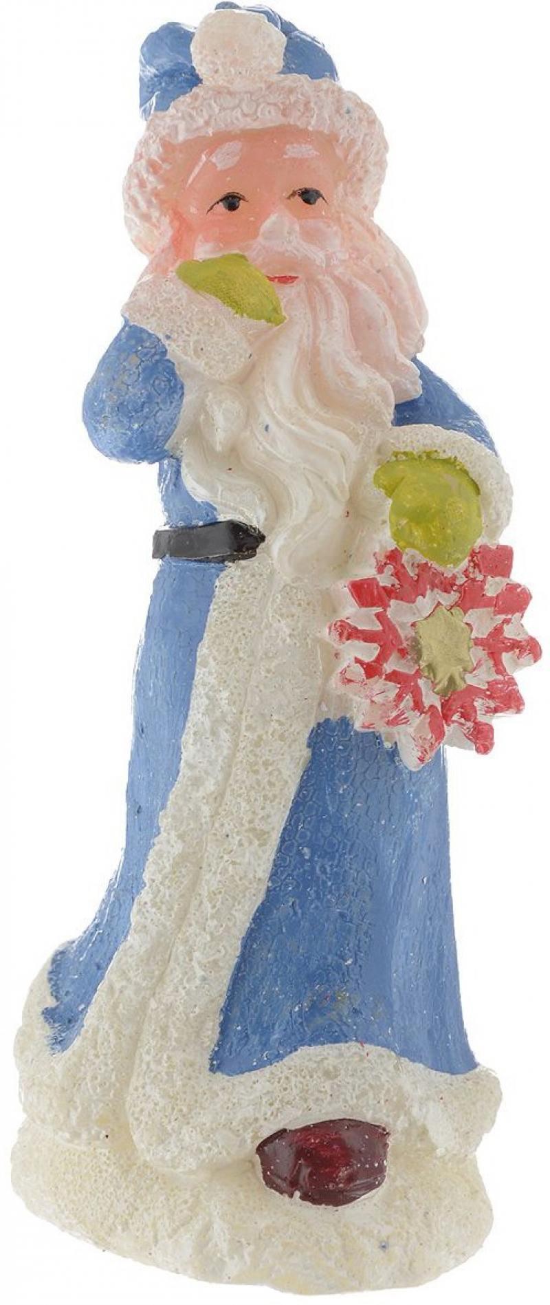 Свеча ДЕД МОРОЗ СО СНЕЖИНКОЙ, 14 см, 1 вид украшение новогоднее оконное magic time дед мороз с самоваром двустороннее 30 х 32 см