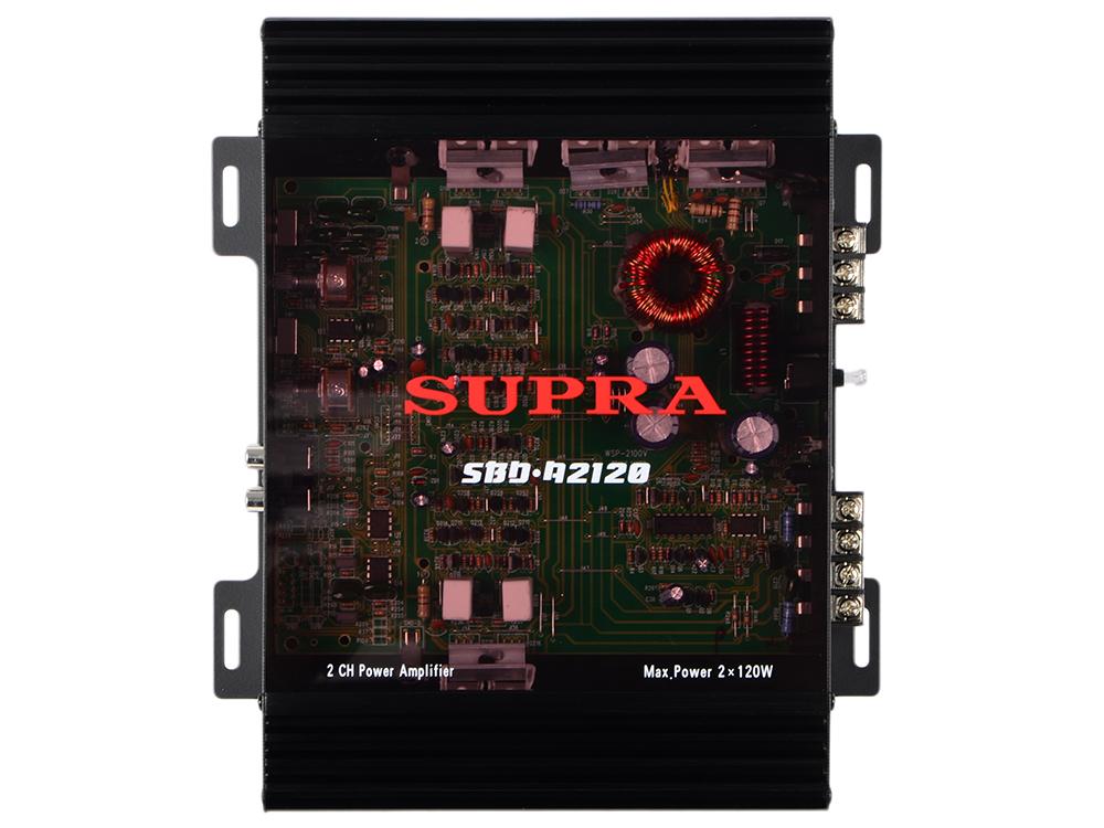 Усилитель звука Supra SBD-A2120 2-канальный приемник futaba 4 канальный r2004gf 2 fhss sport 2 4g для передатчиков futaba 3plg futaba 4plg и futaba