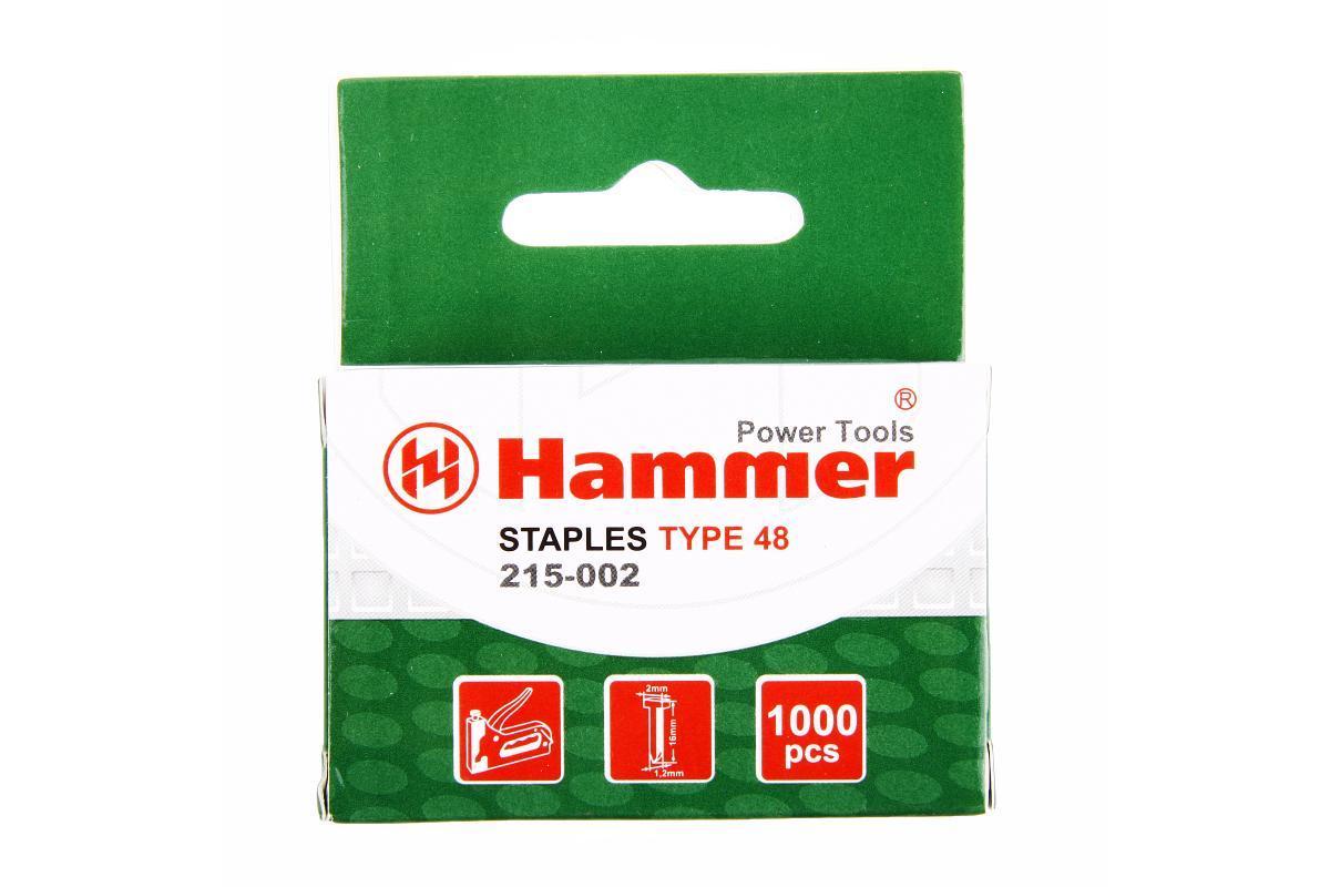 Гвозди для степлера Hammer Flex 215-002 16мм сечение 1.25мм T-образные тип 48 1000шт 34944