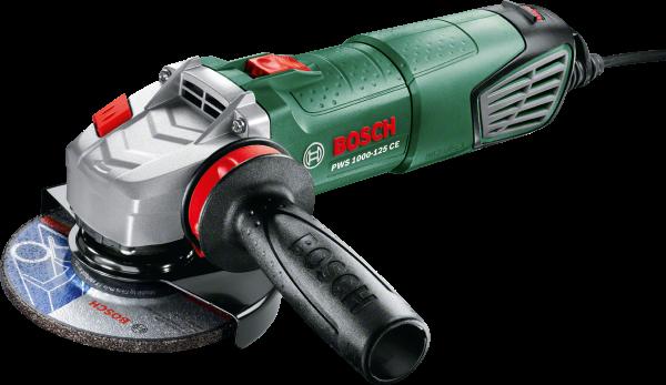 Угловая шлифмашина Bosch PWS 1000-125 CE 1000Вт 125мм угловая шлифмашина bosch pws 1300 125 ce 06033a2920