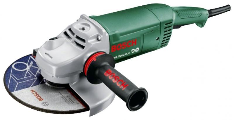 Угловая шлифовальная машина Bosch PWS 2000-230 JE (06033C6001) углошлифовальная машина bosch pws 2000 230 je