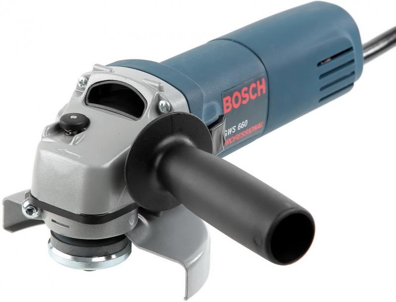 Угловая шлифмашина Bosch GWS 660 115мм 060137508N шлифмашина bosch prr 250 es 06033b5020
