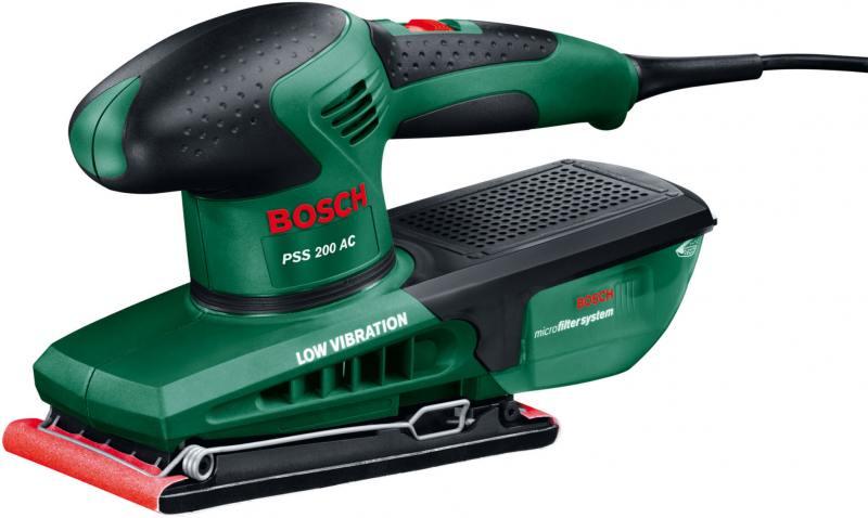Виброшлифмашина Bosch PSS 200 AC вибрационная шлифовальная машина bosch pss 200 ac 0603340120