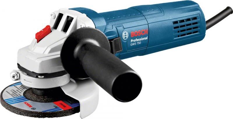 Угловая шлифмашина Bosch GWS 750-125 750Вт 125мм угловая шлифмашина bosch gws 750 125 750вт 125мм