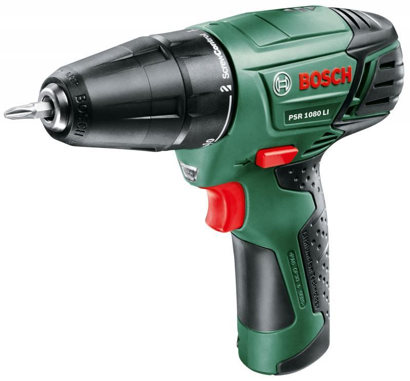 Аккумуляторный шуруповерт Bosch PSR 1080 Li-2 1.5Ah x2 Case (06039A2101) reducer box gear case for bosch 10 8v gsr12 2 li gsr10 8 2 li ps31 gsr12 li ps21 gsr10 8 15fc2 609 199 786 bacd 1 10 8v li